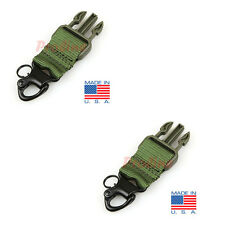 2 PC Tactical Molle Shackle Upgrade Kit Steel Rifle Sling Spring Snap Hook-OD
