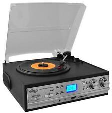 Pyle PTTCS9U Retro Turntable AM/FM Radio/Cassette USB/SD Aux Input for iPod MP3