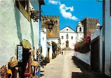 B48012 Obidos typical street in the village  spain