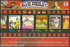 ANTIGUA  ELVIS PRESLEY IN THE MOVIES SHEET SCOTT#2888  IMPERFORATED MINT NH