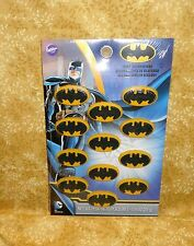 Batman Edible Cupcake Toppers, Cake Decorations,Wilton,710-5140,Multi-Color,