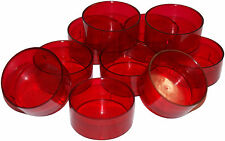 100 RED Tealight Candle Moulds. Polycarbonate. For making tealight candles