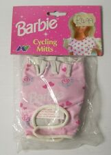Vintage 1997 Official BARBIe Girls Cycling Mitts Gloves Leather & Nylon Age 7-9