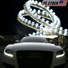 2x Waterproof Led Strip Digital Bulb Diode Lamps Lighting Tape Bar For Car Auto