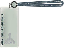 SUPER BOWL XLVII TICKET LANYARD STRAP + I WAS THERE NEW ORLEANS RAVENS vs 49ers