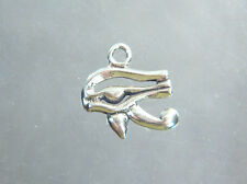 "Eye of Horus  ~  3D   ~  925/.925 Sterling Silver Charm 3/4"""" high"