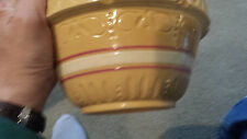 YELLOW WARE MIXING BOWL BY ROBINSON RANSBOTTOM POTTERY #391 ROSEVILLE 1920's