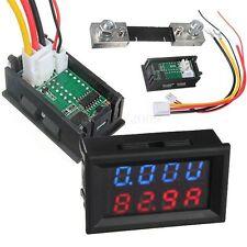 DC 0-100V 0-100A Car Voiture LED Digital Panneau Voltmètre Ampèremètre Ammeter
