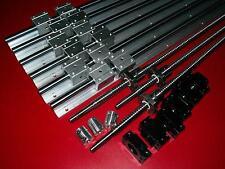 SBR16-300/600/600mm linear rail+3 RM1204 ballscrew+BK/BF10 end bearing CNC set