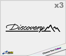 Land Rover Discovery Logo Autocollant Decal badge emblème 135mm x 20mm x3
