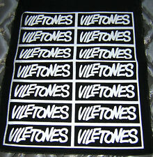 Viletones-Punk Patches! Sheet of 14 cloth / canvas silk-screen patches! PUNK