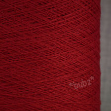 100% PURE CASHMERE WEAVING YARN 100g CONE RED 14 NM SINGLE FOLD TWIST WEAVE WOOL