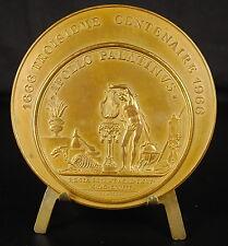 Médaille 3eme centenaire Académie des Sciences Appolo Palatinus 73mm 1966 Medal