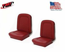 1966 Mustang Front Bucket Seat Upholstery- Pair- Red Made by TMI - IN STOCK!!