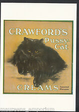Advertising Postcard - Crawford's Pussy-Cat Creams, Assorted Flavours  BH6185