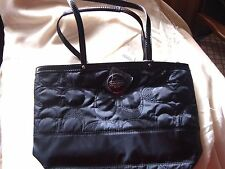 COACH  F17668  Coach Signature Stitch Nylon Tote Bag IN BLACK BNWT MSRP $268..
