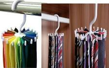 Rotating 20 Hooks Neck Ties Organizer Men Tie Rack Hanger Holder Practical FO