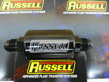Russell 650133 Competition Fuel Filter -6 AN Male Inlet Outlet Black Anodized