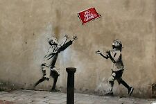 Banksy Box Canvas Print - Wall Art - NO BALL GAMES - 20 x 14 inch