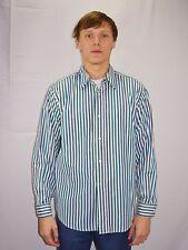 Men's Vintage Stripe Button Down Dress Shirt YVES SAINT LAURENT Paris Size 42
