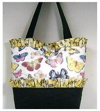 NEW handmade tote purse bag handbag Spring Butterfly Summer faffygiraffe