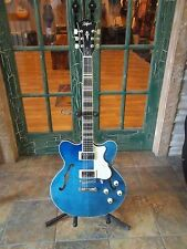 Hofner HCT-VTH Very Thin Semi Hollow Electric Guitar in Midnight Blue w/ CASE !!