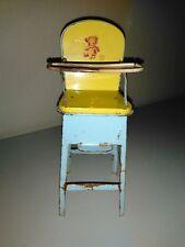 Antique Chein Tin Litho doll high chair feeding table