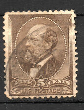 United States : 1882 5 Cents ( James Garfield ) cancelled