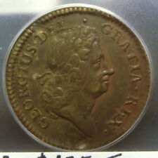 1723 Rosa Americana Penny – Early Colonial – Slabbed Au Details