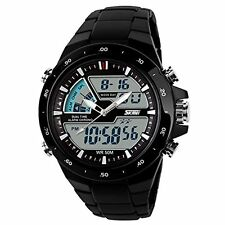 Skmei Imported Black Dial And Straps Digital Sports Watch For Men!