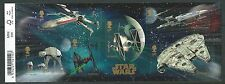 GREAT BRITAIN 2015 STAR WARS MINIATURE SHEET WITH BARCODE FINE USED