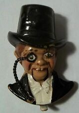 VTG Coro Fur Clip Brooch 1937 Charlie McCarthy Mechanical Figural Book Piece