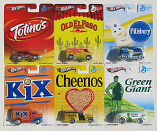 HOT WHEELS NOSTALGIA POP CULTURE SET OF 6 CHEERIOS KIX PILLSBURY GREEN GIANT