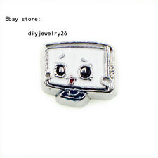 10pcs Robot Head Pattern Floating Charms For Living Memory Locket Free Shipping