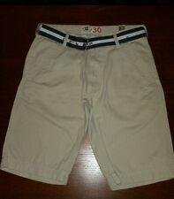 "G&M 30 Tan Beige belted Shorts men's size 30 x 11""100% cotton  (c5)"