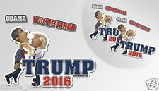 "TRUMP Anti Obama Hillary ""You're Fired"" Funny Bumper Stickers Decals 2-pack 7.5"""
