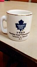 NHL STANLEY CUP CRAZY MINI MUG TORONTO MAPLE LEAFS 1963 CHAMPS W/OPPONENT &SCORE
