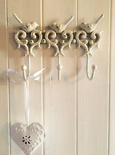 Bird Antique Vintage Style Wall Hooks Home Coat Shabby Chic Storage French Iron