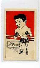 (Jw943-100) Cummings,Famous Fighters Swop Card,Tami Mauriello ,1949 #11