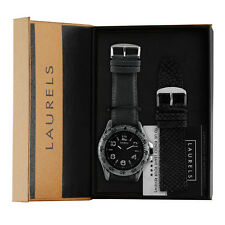 Laurels Monster 1 Analog Black Dial Men's watch Lo-Mns-101s With Strap