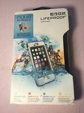 Authentic 100% Lifeproof Case For Apple iPhone 6 Nuud Waterproof -White/Pink