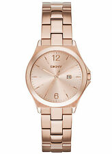 NEW DKNY NY2367 Parsons Rose Gold-Tone Stainless Steel Women's Watch