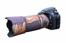 Nikon 70 300mm AFS VR neoprene lens protection camo cover English Oak
