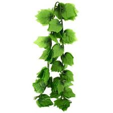 Artificial Grape Leaf Garland Plants Vine Fake Foliage Flower Home Decoration.