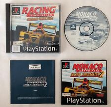 ✿ RARE F1 Car Racing Simulation Monaco Grand Prix 2 PS1 MANUAL GAME COMPLETE
