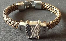 Attack on Titan Anime Woven Bracelet Cosplay