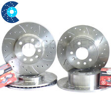 Mini II 1.6 Cooper S Front Rear Drilled Discs Pads R56