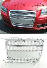 FRONT CHROME GRILL FOR AUDI A3 8P 8PA 05-08 SPORT LOOK SPOILER BODY KIT GRIGLIA