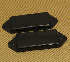 PN-DNH-B Black No-Hole Closed P-90 Dogear Guitar Pickup Cover Set