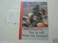 D863 BROCHURE PROSPEKT MOTO GUZZI V11 TEST 'M ZELF DUTCH/FRENCH 4 PAGES PLAYBOY